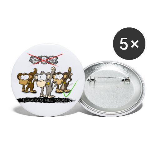 Protest-Äffchen 2 - Buttons groß 56 mm (5er Pack)