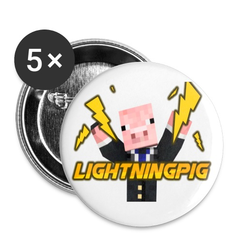 LightningPig Mearch - Buttons large 2.2''/56 mm(5-pack)