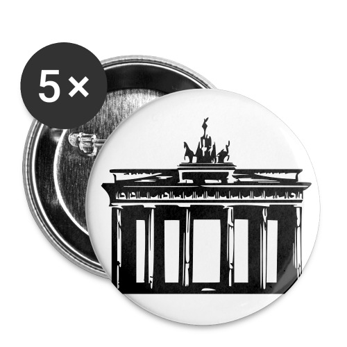 Brandenburger Tor - Buttons groß 56 mm (5er Pack)