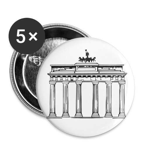 Brandenburger Tor Berlin Victoria Streitwagen - Buttons groß 56 mm (5er Pack)