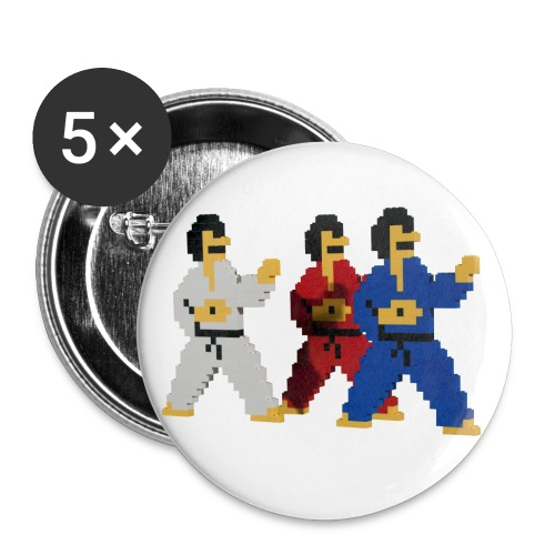 8 bit trip ninjas 1 - Buttons large 2.2''/56 mm(5-pack)