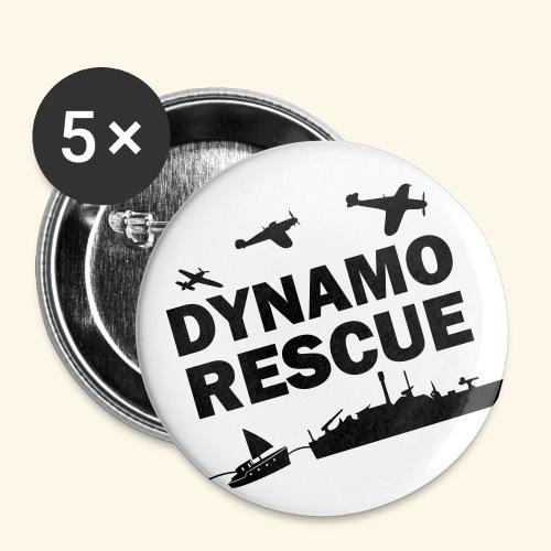 Dynamo Rescue - Lot de 5 grands badges (56 mm)