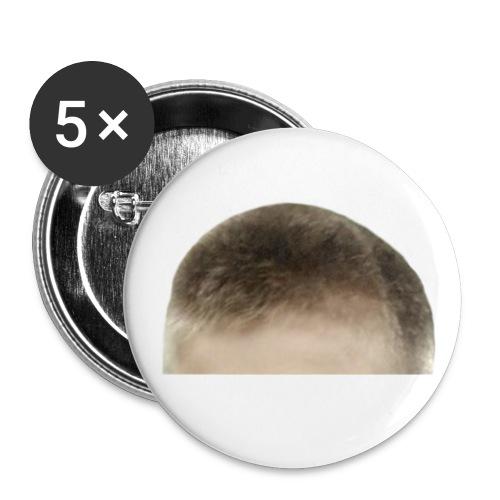 Voorhoofd - Buttons groot 56 mm (5-pack)