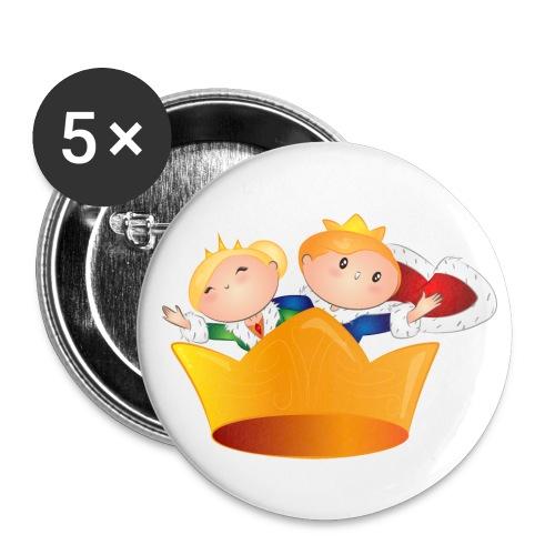Koning Willem Alexander & Maxima - Buttons groot 56 mm (5-pack)