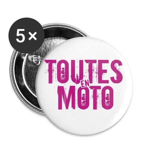 1 Logo TEM - Lot de 5 grands badges (56 mm)