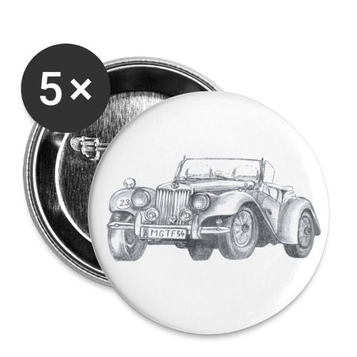 Oldtimer MG TF 1500 - Buttons groß 56 mm (5er Pack)