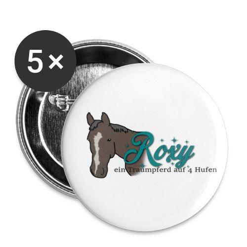 Roxy - Buttons groß 56 mm (5er Pack)