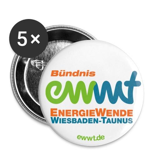 EWWT Logo - Buttons groß 56 mm (5er Pack)