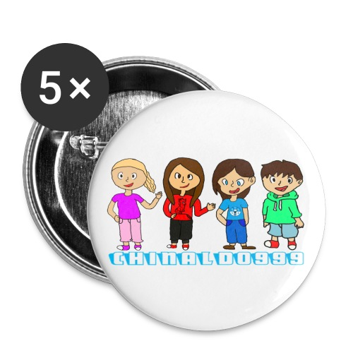 The youtube group annie m - Buttons large 2.2''/56 mm (5-pack)