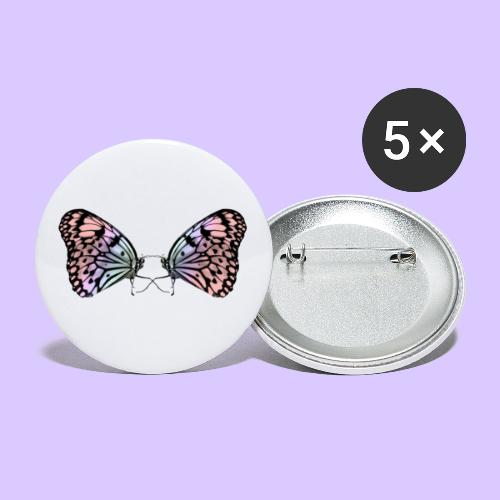 Schmetterlinge, Schmetterling, Insekt, Insekten - Buttons groß 56 mm (5er Pack)