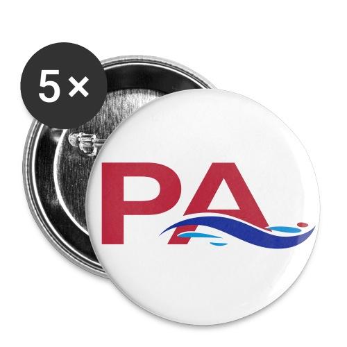 sigle quadri - Lot de 5 grands badges (56 mm)