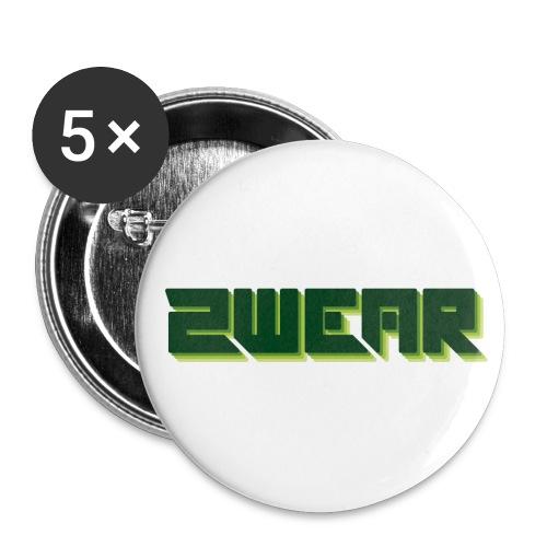 2wear box logo - Buttons/Badges stor, 56 mm (5-pack)