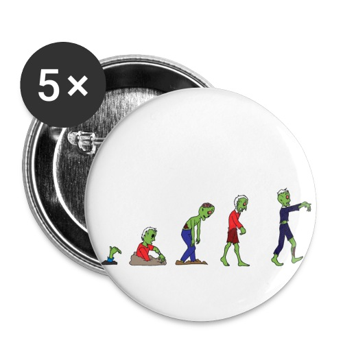 Zombie Evolution - Buttons large 2.2''/56 mm(5-pack)