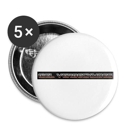 gielverberckmoes shirt - Buttons groot 56 mm (5-pack)