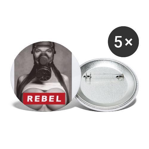 postapocalyptic rebel - Buttons groß 56 mm (5er Pack)