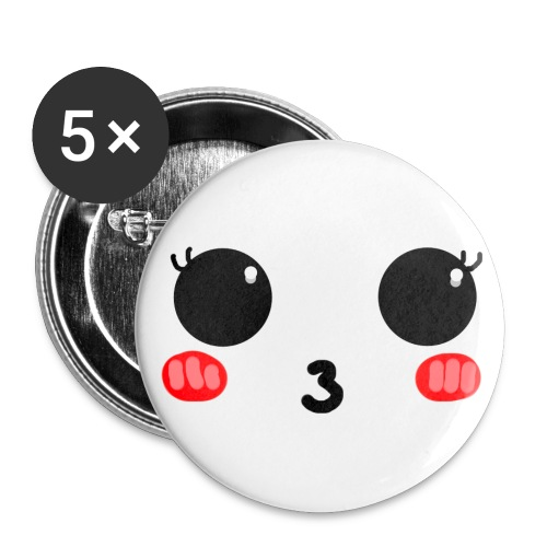kawaishy png - Lot de 5 grands badges (56 mm)