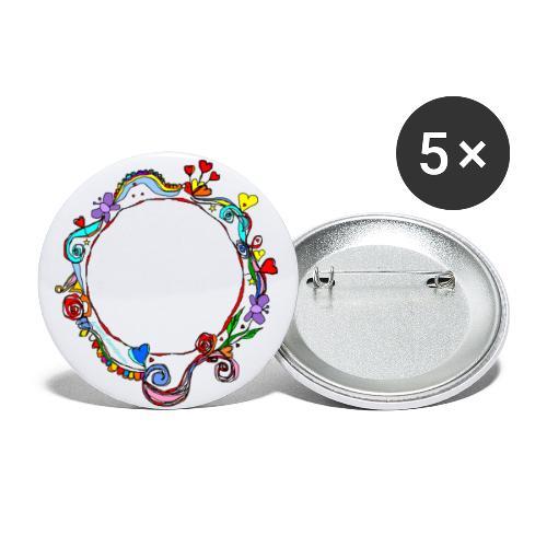 HerzensKreis - Buttons groß 56 mm (5er Pack)