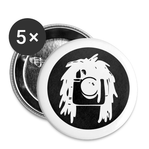 logo Rastagram nero - Buttons large 2.2''/56 mm (5-pack)