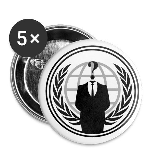 Anonymous Logo 03 png - Lot de 5 grands badges (56 mm)