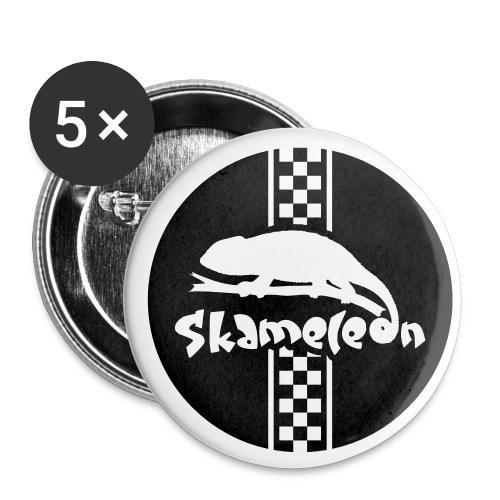 skameleon kreis negativ - Buttons groß 56 mm (5er Pack)