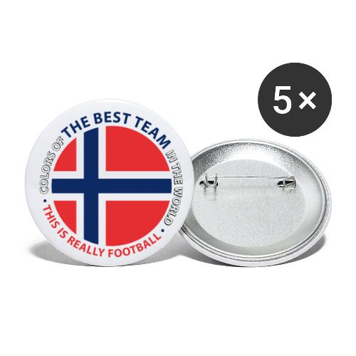 Norway Best Football Team - Buttons large 2.2''/56 mm(5-pack)