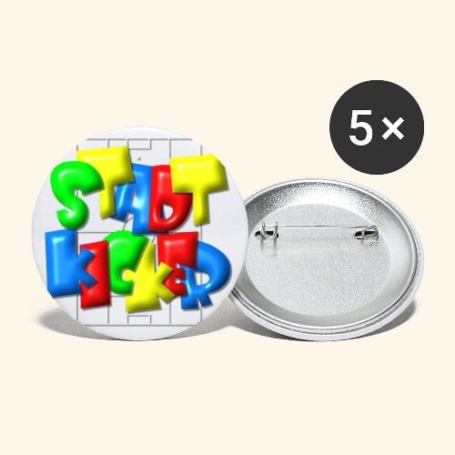 Stadtkicker im Fußballfeld - Balloon-Style - Buttons groß 56 mm (5er Pack)