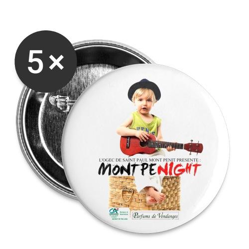 montpenight - Lot de 5 grands badges (56 mm)