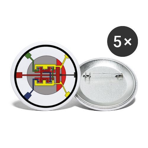 JackJohannes Hemp's Oscillator - Buttons groot 56 mm (5-pack)