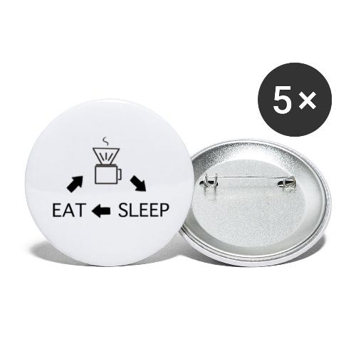 Kaffee Liebe Barista - Buttons groß 56 mm (5er Pack)