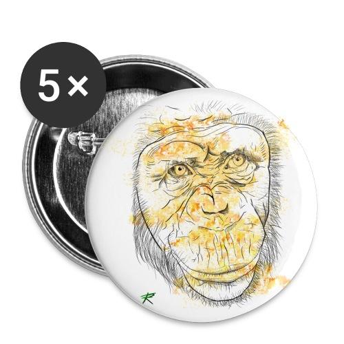 Scimpanzè color - Confezione da 5 spille grandi (56 mm)