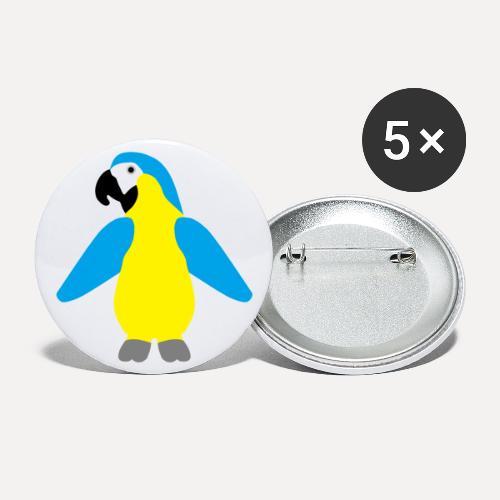 Gelbbrustara - Buttons large 2.2''/56 mm(5-pack)