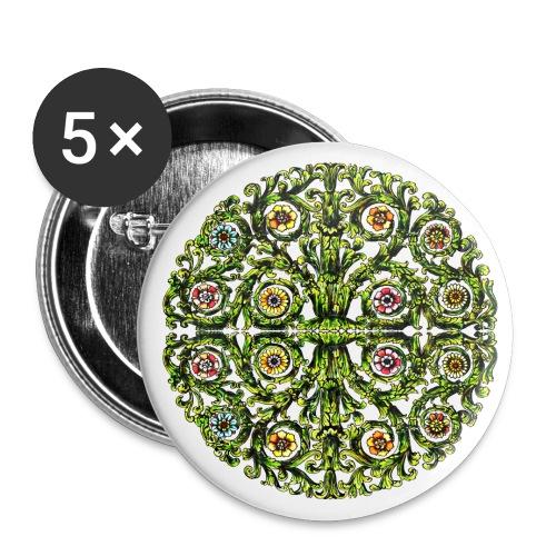 Ornament 127 - Buttons groß 56 mm (5er Pack)