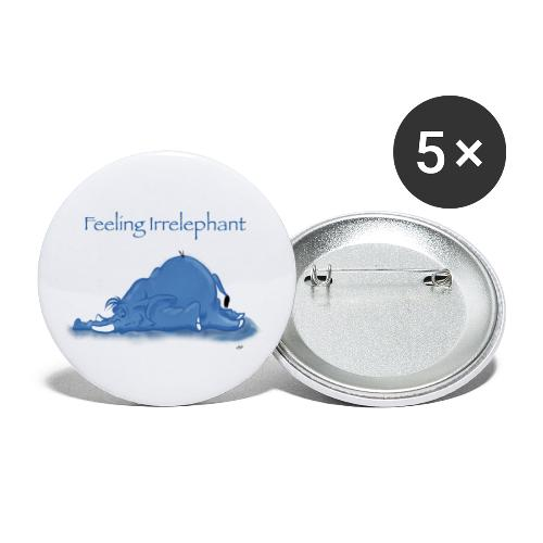 Irrelefant - Stora knappar 56 mm (5-pack)