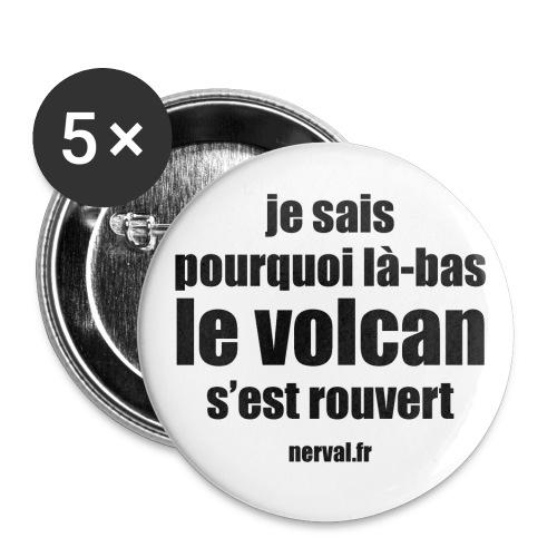 11_nerval_volcan - Lot de 5 grands badges (56 mm)
