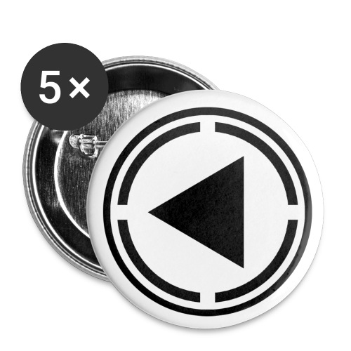 black logo last time - Buttons large 2.2''/56 mm (5-pack)