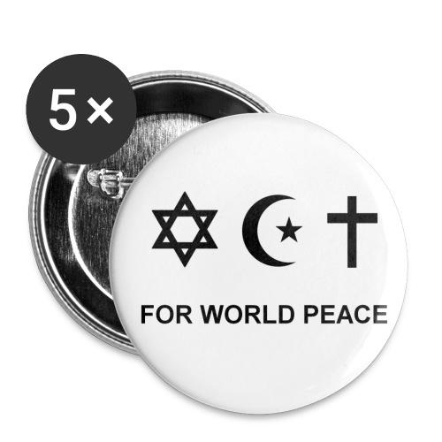 For World Peace badges - Lot de 5 grands badges (56 mm)