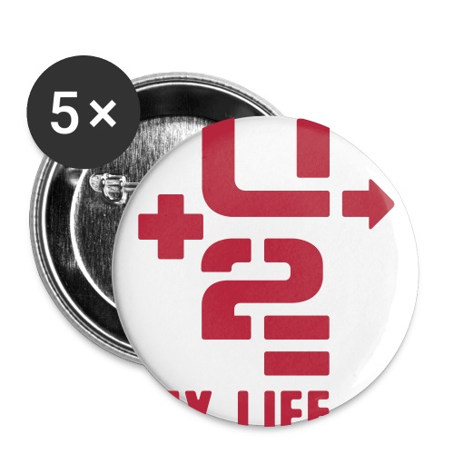 U 2 MY LIFE - Buttons large 2.2''/56 mm(5-pack)