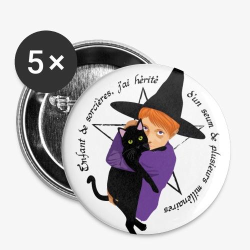 Enfant de sorcières - Lot de 5 grands badges (56 mm)