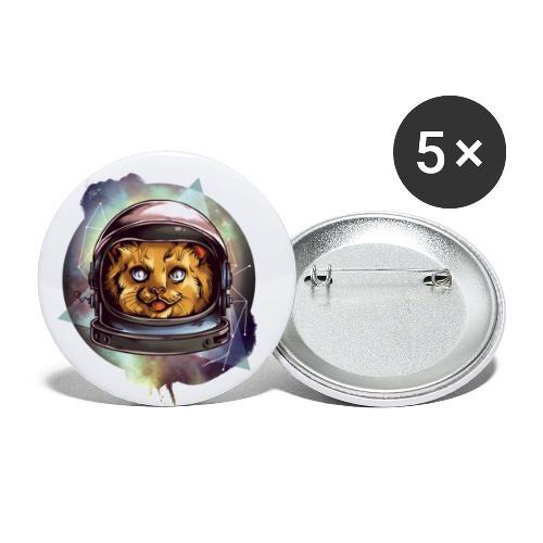 Cute astronaut kitten - Buttons large 2.2''/56 mm(5-pack)