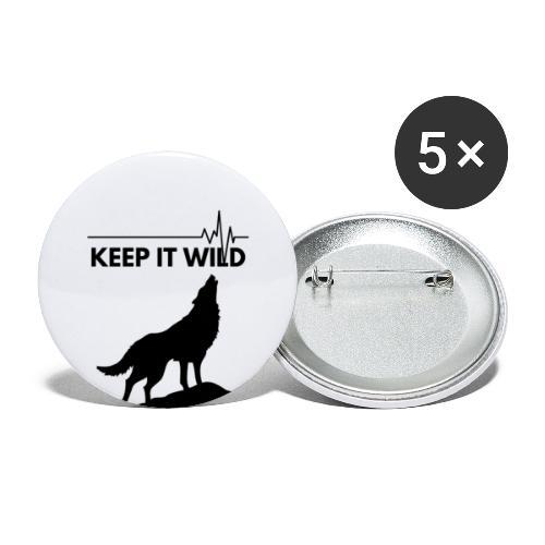 Keep it wild - Buttons groß 56 mm (5er Pack)