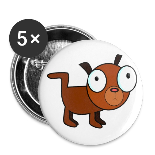 dog dawg animal 1979px png - Buttons groot 56 mm (5-pack)