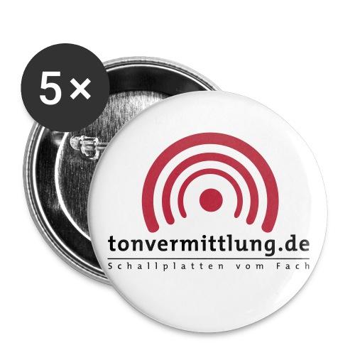 logo hoch - Buttons groß 56 mm (5er Pack)