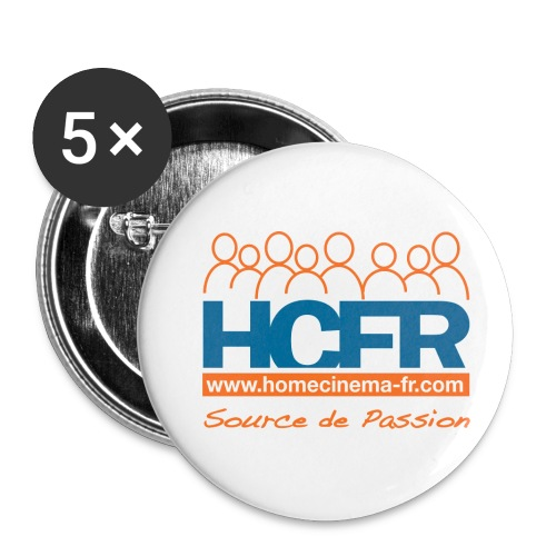 logo hcfr blanc 400 - Lot de 5 grands badges (56 mm)