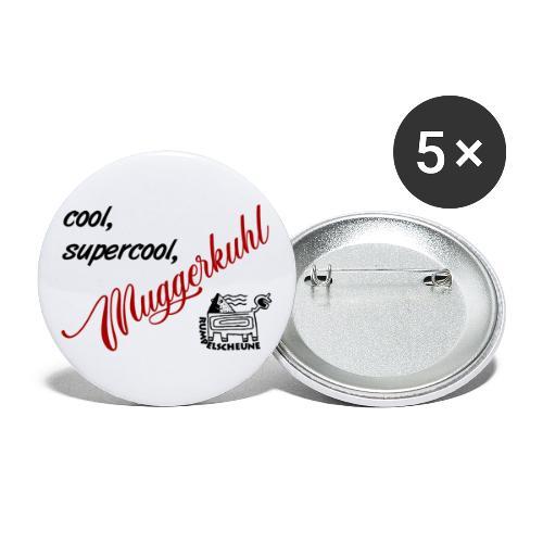 cool, supercool, Muggerkuhl - Buttons groß 56 mm (5er Pack)