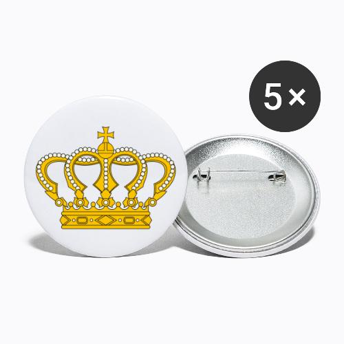 Golden crown - Buttons large 2.2''/56 mm (5-pack)