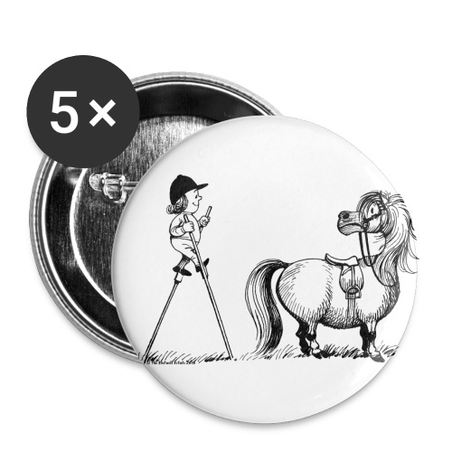 Thelwell - Penelope wirh stilts - Buttons large 2.2''/56 mm(5-pack)