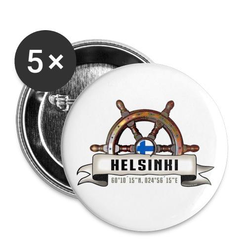 Helsinki Ruori - Merelliset tekstiilit ja lahjat - Rintamerkit isot 56 mm (5kpl pakkauksessa)