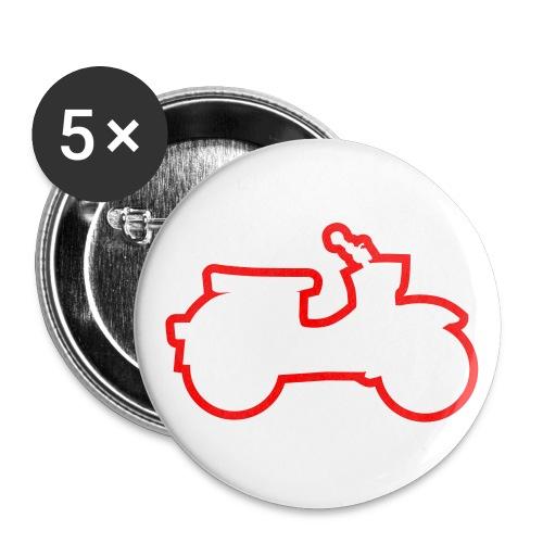 Leucht-Shirt Schwalbensilhouette - Buttons groß 56 mm (5er Pack)