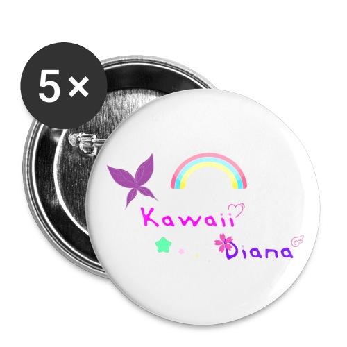 Kawaii Diana - Paquete de 5 chapas grandes (56 mm)
