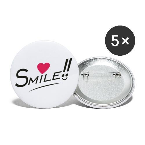 Sourit - Lot de 5 grands badges (56 mm)